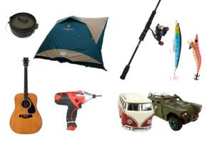 釣具・ギター・電動工具・フィギュア・キャンプ用品 etc...